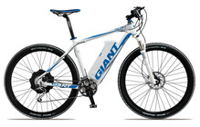Giant Talon 29 Hybrid gloss white/team blue